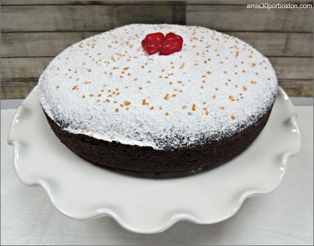 Pastel de Chocolate con Harina de Almendras para San Valentin
