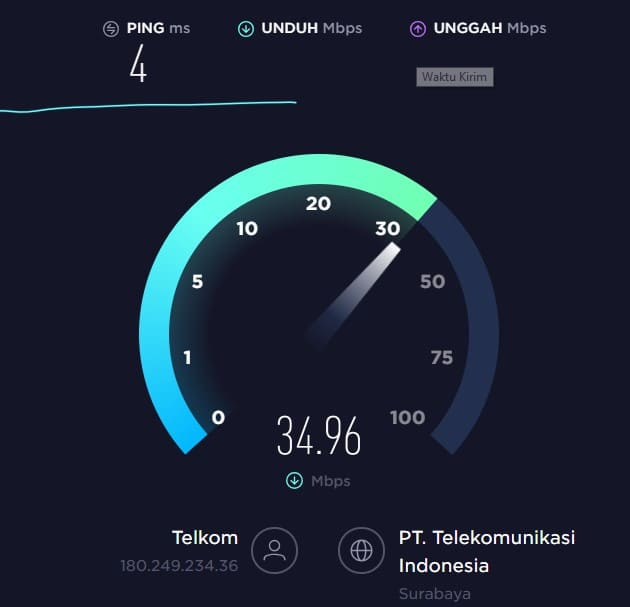 Cek Koneksi Internet