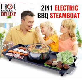 Lazada 12.12 Sales for Electric Bbq Grill and Steamboat Hot Pot