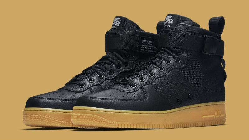 the best attitude ed85d 03535 Nike SF Air Force 1 Mid Black/Gum | Analykix