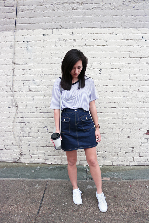 White Adidas Neo Sneakers Outfit