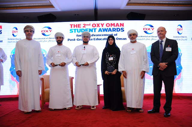 H.E. Talal Al Rahbi  Joins Celebration of the 2nd Oxy Oman Post-Graduate Student Awards