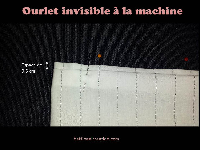 Bettinael passion couture made in france diy mon premier ourlet invisible la machine coudre - Couture invisible machine a coudre ...