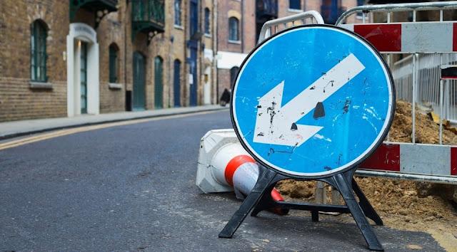 объезд препятствий по знакам