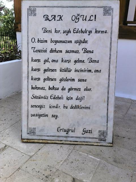 Ertuğrul Gazi'nin Osman Gazi'ye vasiyeti