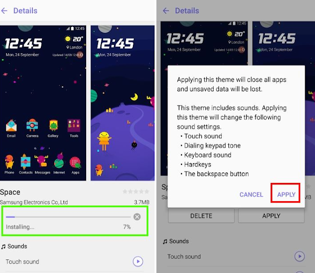 Download and apply Galaxy Note 5 themes