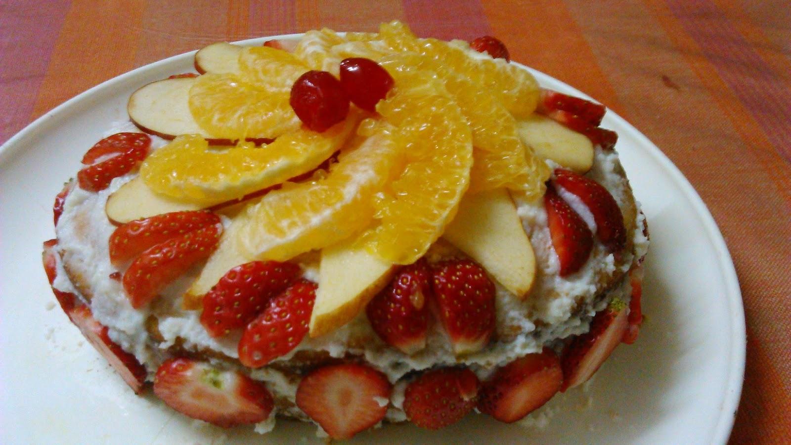 Jhatpat Simple Recipes: Eggless Fresh Fruit Cake