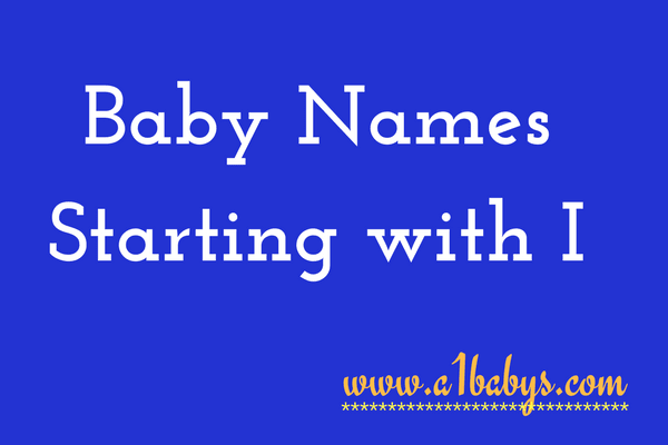 baby girl names starting with I