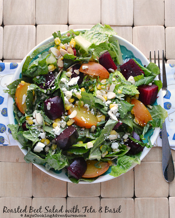 Featured Recipe | Roasted Beet Salad with Feta from Amy's Cooking Adventures #salad #recipe #SecretRecipeClub