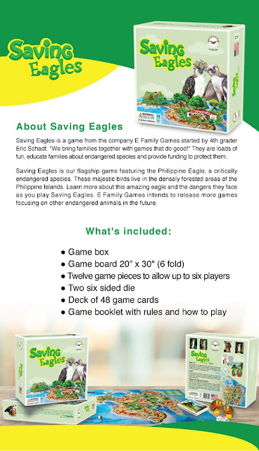 Saving Eagles Board Game - E-Family Games.