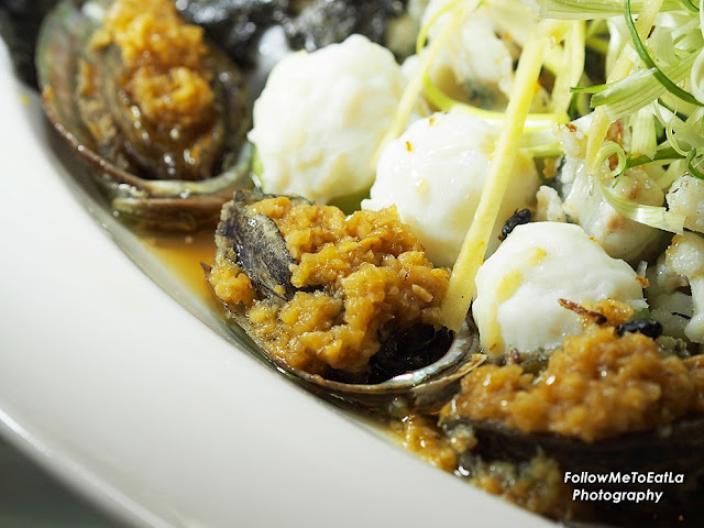 Steamed Ocean Garoupa With Fresh Abalone, Glass Noodle and Dried Shrimp Taishan Style RM 488 per portion for 8 pax