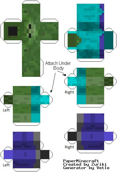 Bonecos De Minecraft Para Imprimir Recortar E Montar