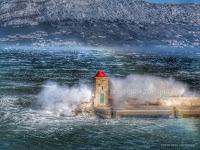 velika bura Postira slike otok Brač Online