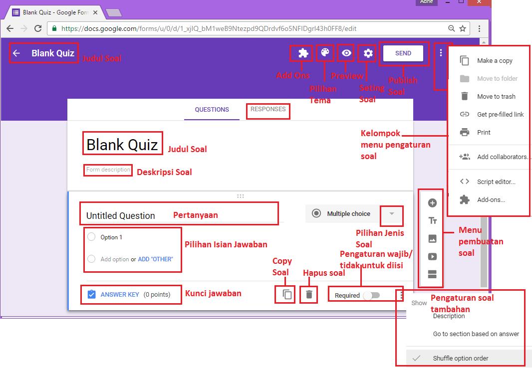 """Aplikasi Google """"Membuat Soal Online dengan Google Form"""
