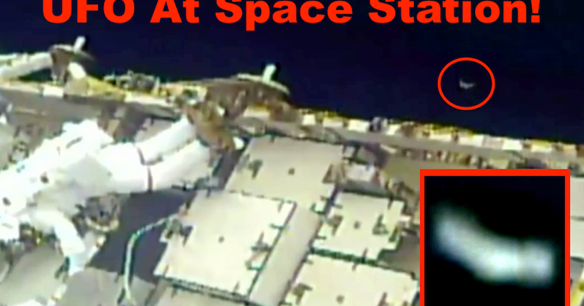 UFO Appears At Space Station Watching Spacewalk, March 29, 2019, Video, UFO Sighting News.