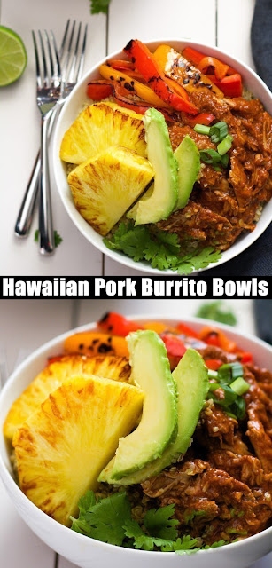Slow Cooker Hawaiian Pork Burrito Bowls Recipe