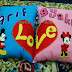 Simple Couple Felt Pillow