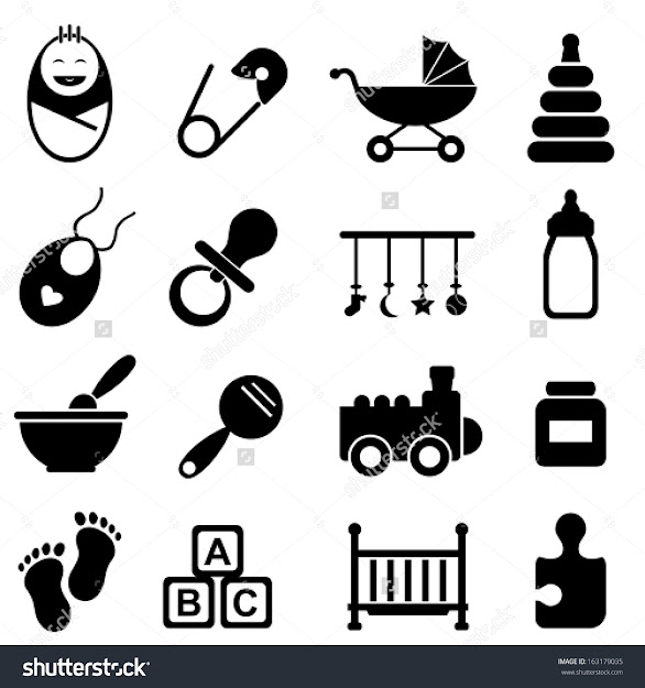 Baby Infant And Birth Icon Set