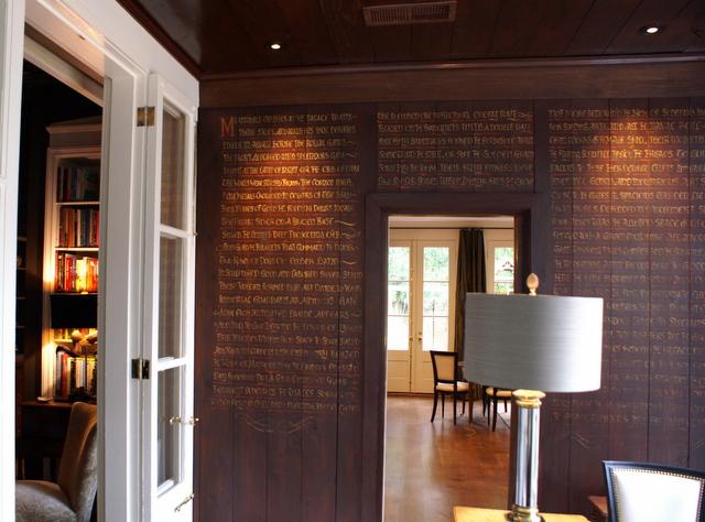 me piacciono le pareti calligrafiche! E anche i soffitti...