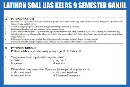 Download Kumpulan Soal-soal SMP Tahun 2018/2019