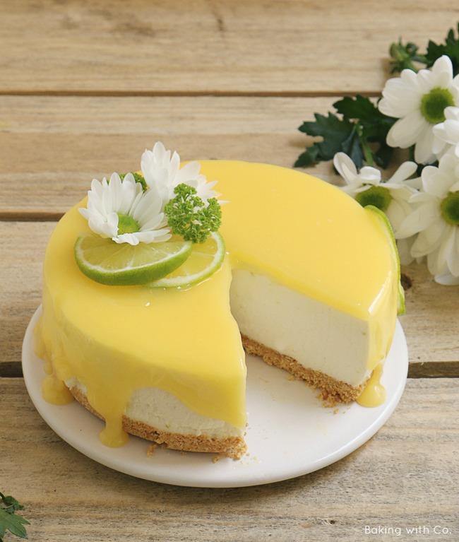 cheesecake de lima o limón sin horno