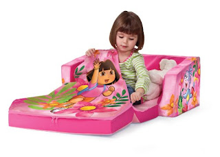 children s flip out sofa australia dark gray ideas dora open marshmallow - thesofa