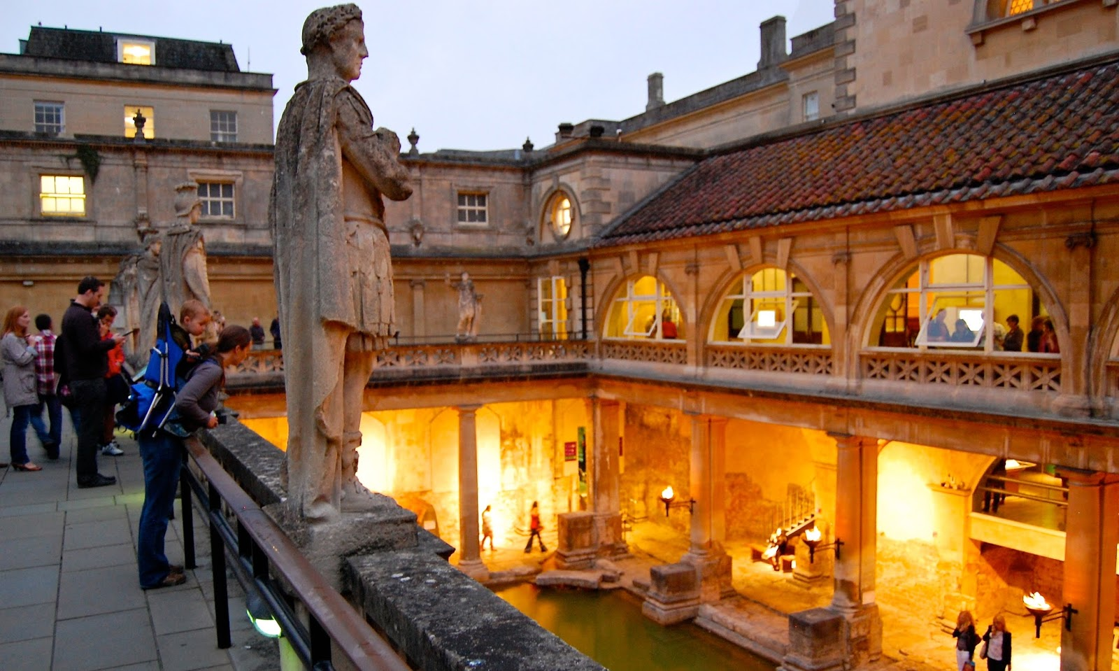 Roman spa in Bath, England