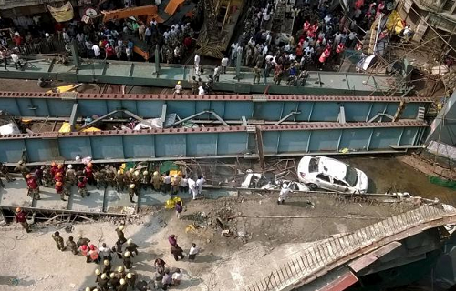 10 Killed, 150 Injured As Flyover Collapsed In India