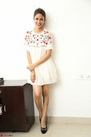 Lavanya Tripathi in Summer Style Spicy Short White Dress at her Interview  Exclusive 137.JPG