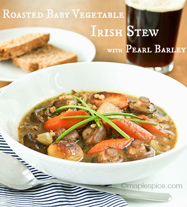 Maple Spice Roasted Baby Vegetable Irish Stew With Pearl Barley