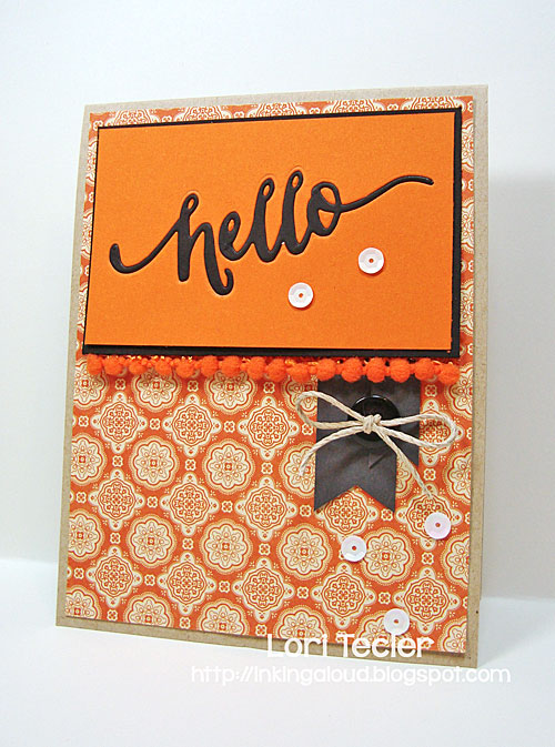 Hello card-designed by Lori Tecler/Inking Aloud
