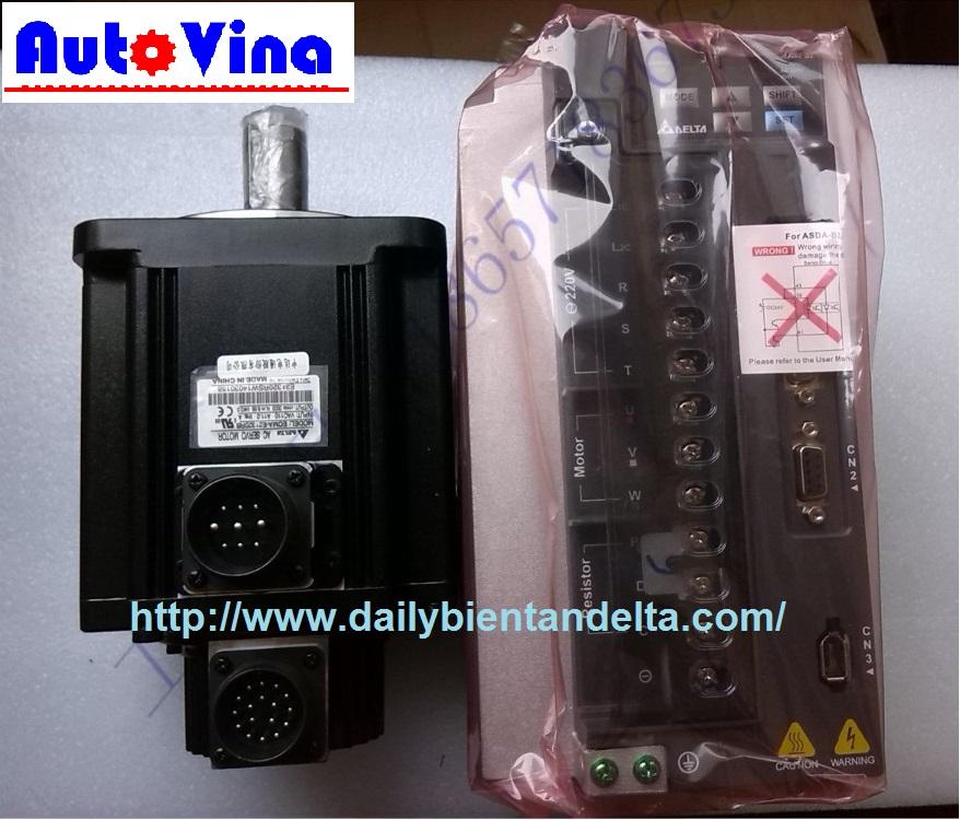 Auto Vina đơn vị nhập khẩu và phân phối bộ điều khiển AC Servo, Động cơ Motor Servo hãng Delta 2kW : ASD-B2-2023-B , ECMA-E21320GS - ECMA-E21320RS