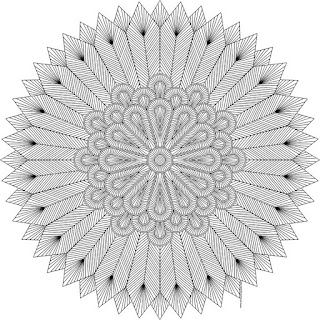 Feathers coloring page for adults- blank available in jpg and transparent png #coloring #mandala