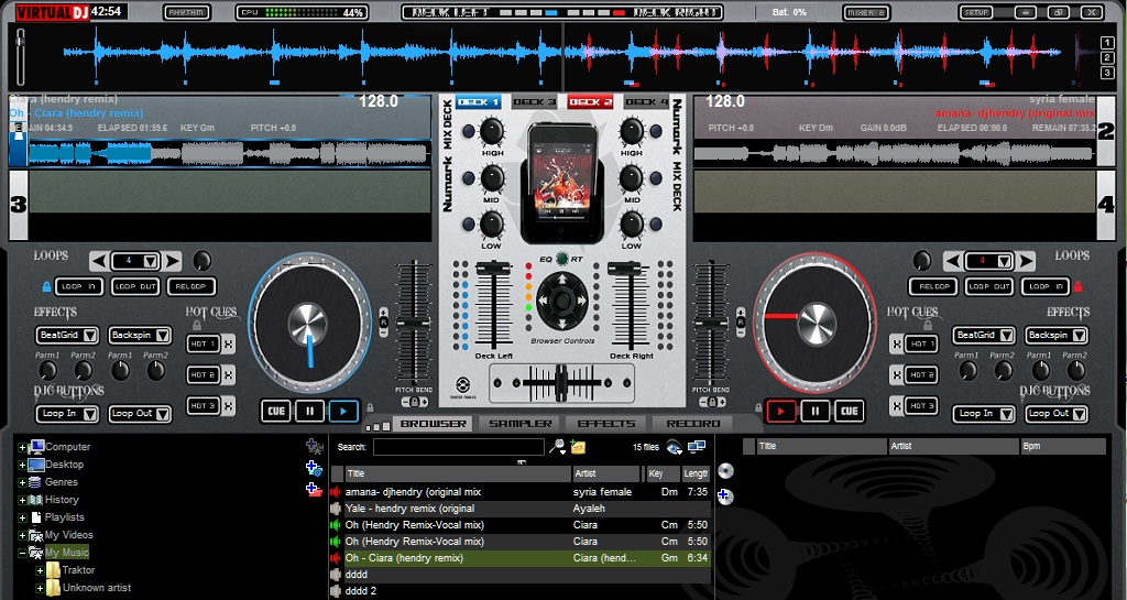Numark Mix deck skin v.1 for virtualdj 7 ~ DJhendryshare