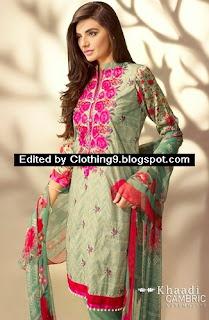 Khaadi Cambric Autumn Catalog 2015-16