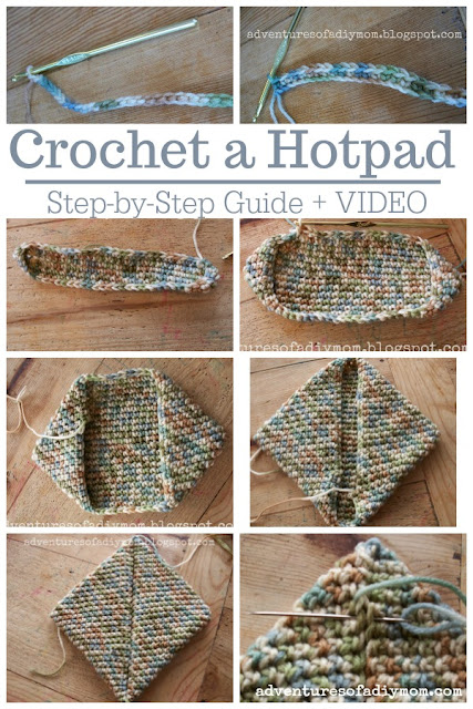 Crochet a Hot Pad - step by step guide and video