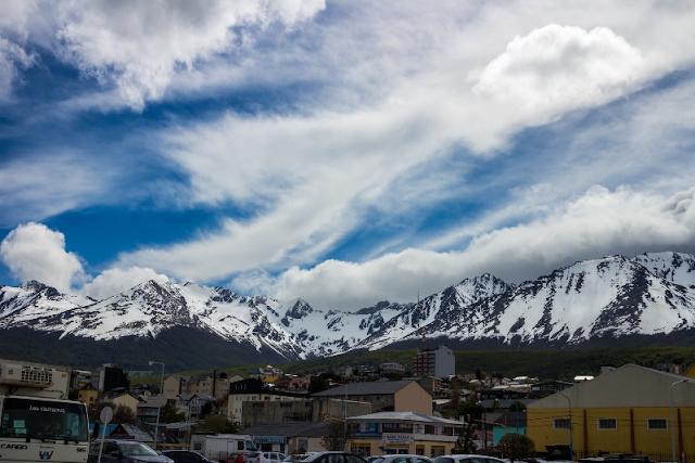 Neve no Ushuaia na Argentina