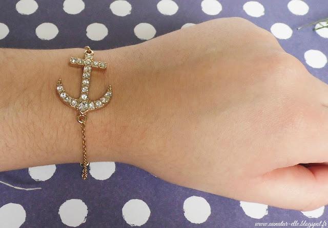 bracelet ancre - la fée qui frippe
