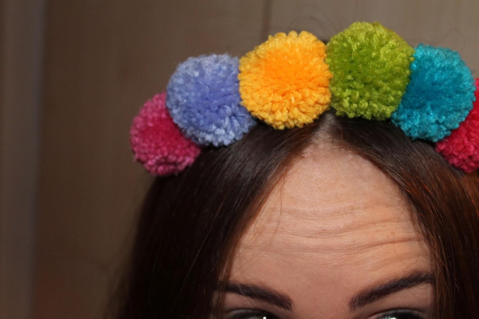 asos pom pom hairband