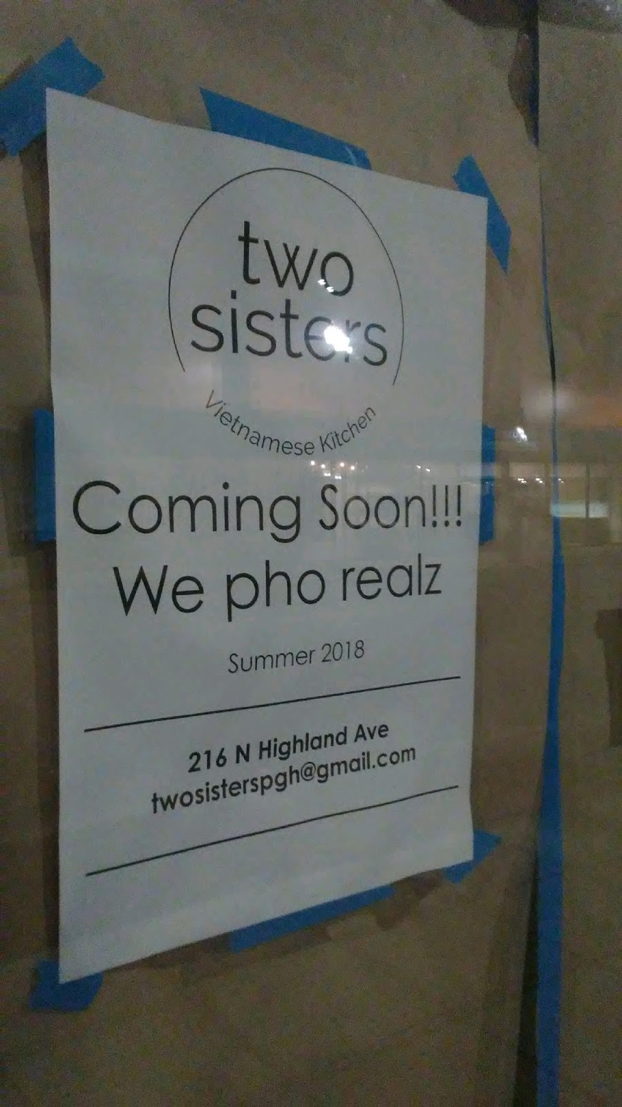 Pennsylvasia Progress On Two Sisters Vietnamese Kitchen