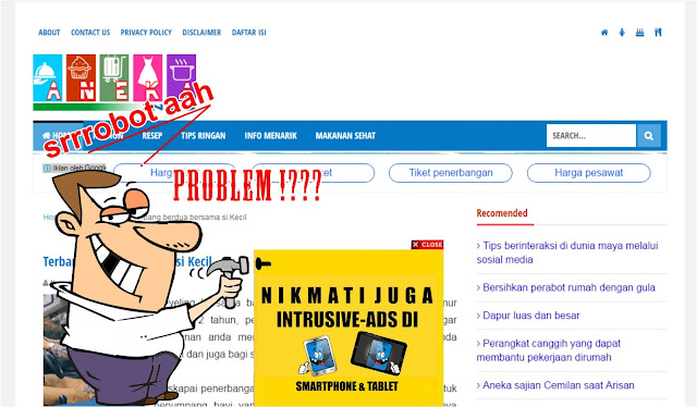 intrusive ads sangat mengganggu