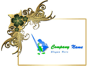 تحميل تصميم شعار فرشاة رسم وباليته, Feather drawing and Colors ballet psd logo download