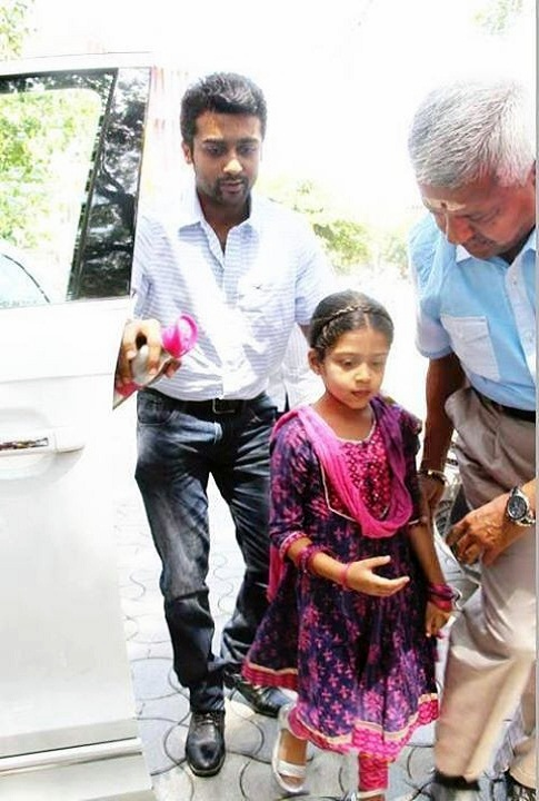 Cute Surya Wallpapers Tamil Actor Surya Daughter Diya General Photos Unseen