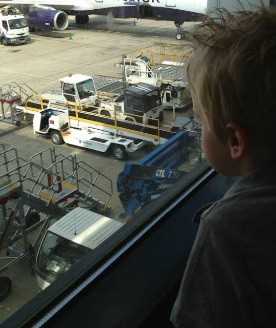 child with autism at airport