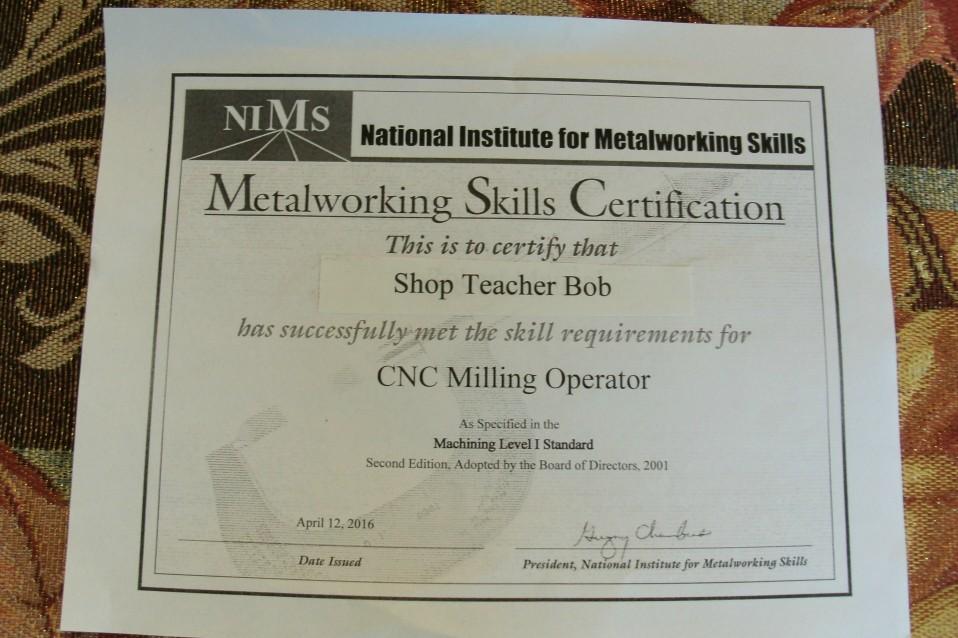 Shop Teacher Bob Certified