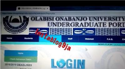 "News Promoting ""Yahoo Yahoo"" Seen On OOU Official Website"