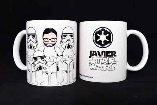 Taza star wars con stormtrooper personalizado