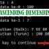 Membuat Program Pengurutan Ascending Descending dengan C++ beserta penjelasan