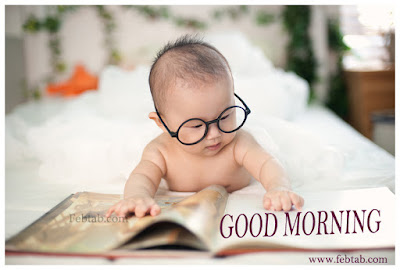 Morning time read news papers febtab.com boy