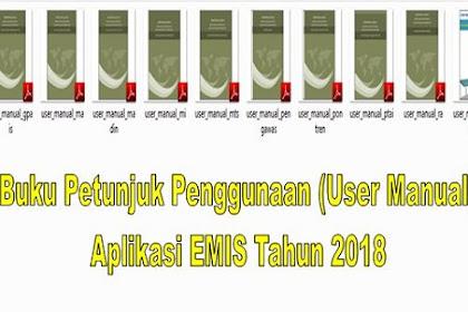 Buku Petunjuk Penggunaan (User Manual) Aplikasi EMIS Tahun 2018